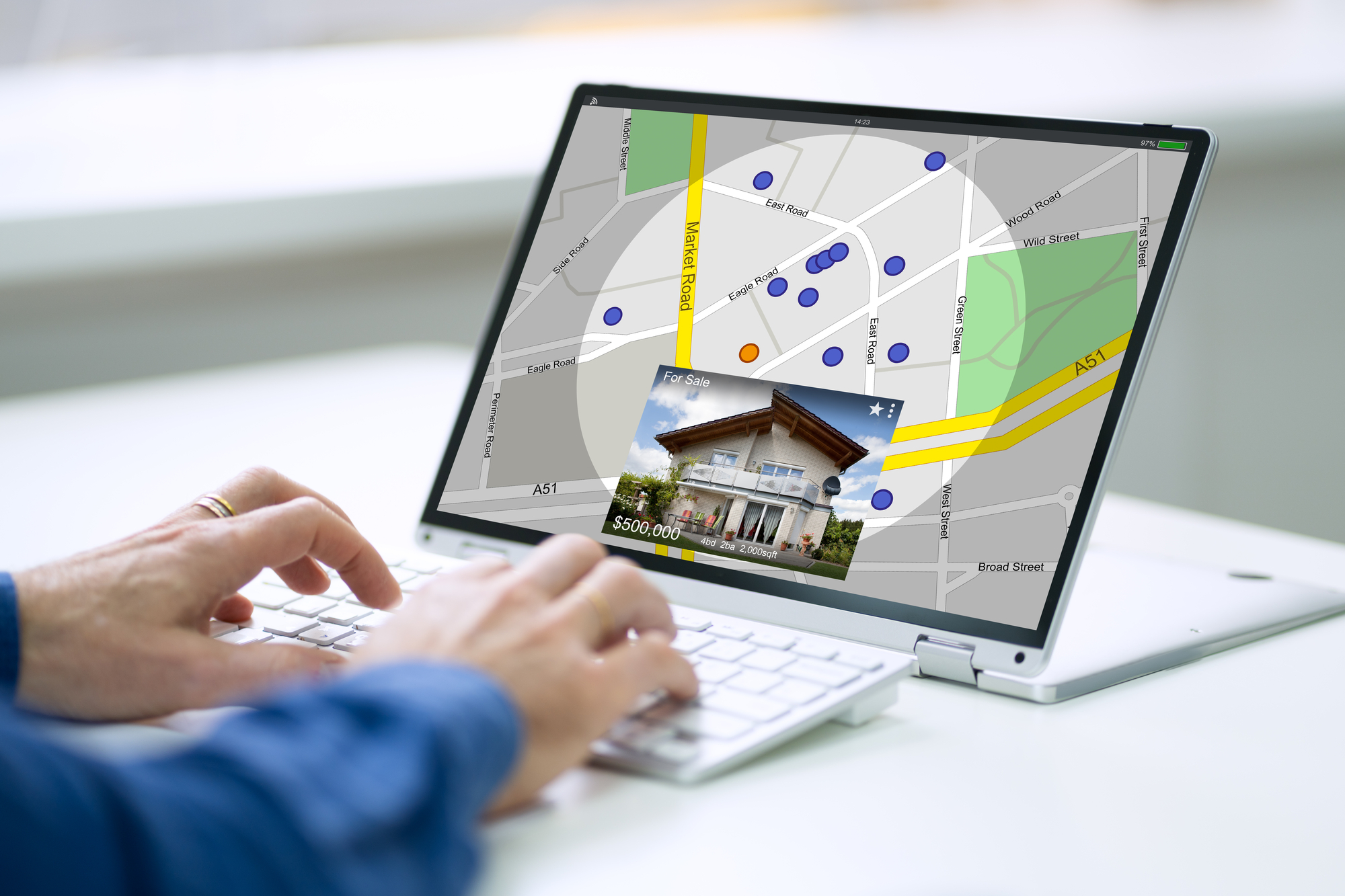 GPS Location Map Search Online On Laptop