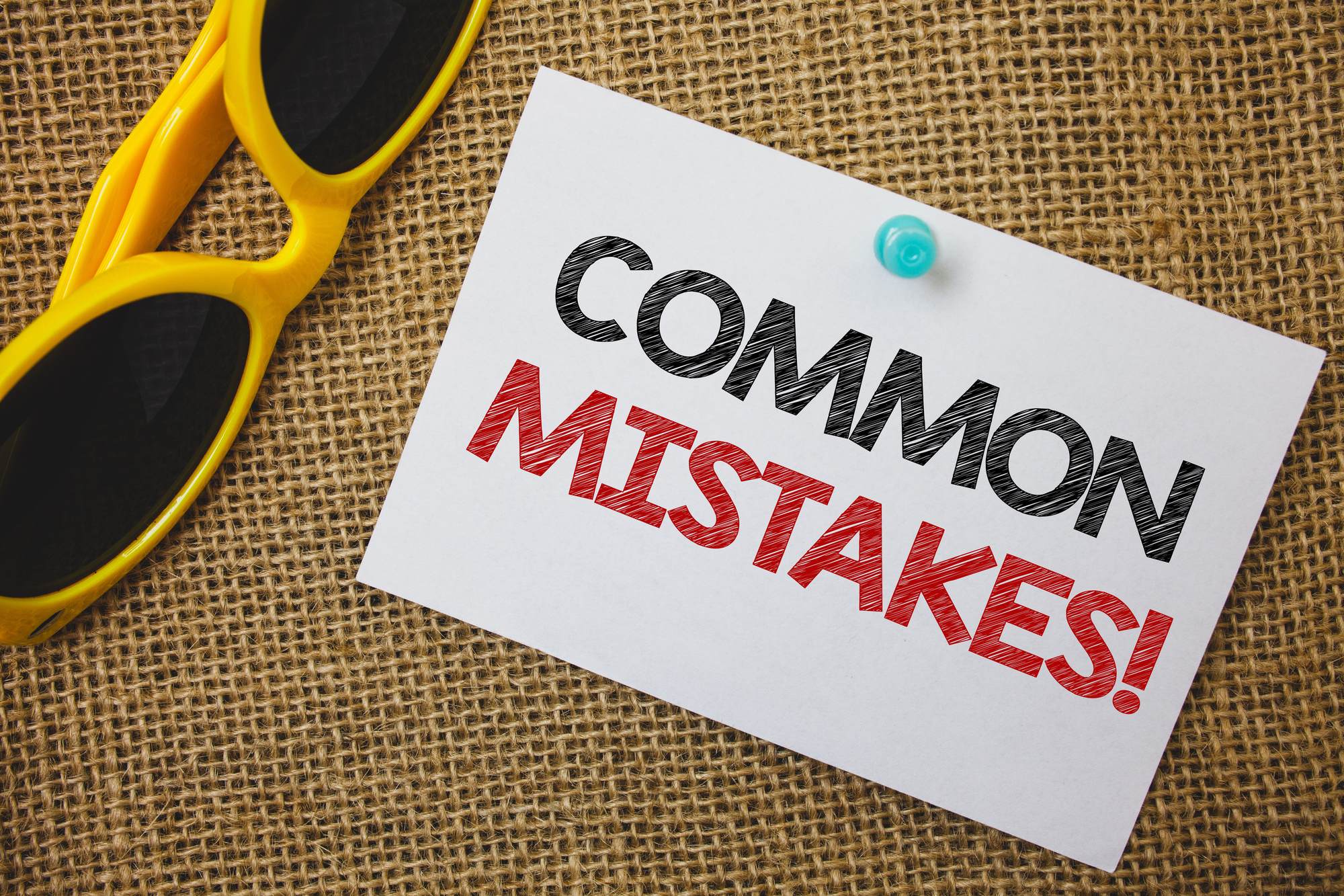 Writing note showing Common Mistakes Motivational Call